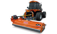 Offset in-line slope mowers