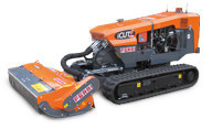 Remote control slope mowers