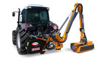 Hydraulic reach mowers